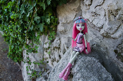 Rochelle on the way up the hill (~Loona~) Tags: monster high doll signature gargoyle granite rochelle goyle scaris
