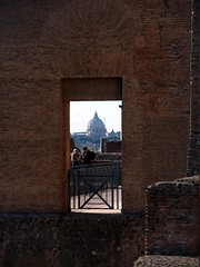 """St Peter's Basilica seen from a window in the Palatino • <a style=""""font-size:0.8em;"""" href=""""http://www.flickr.com/photos/41849531@N04/17343951576/"""" target=""""_blank"""">View on Flickr</a>"""