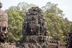 Giant faces at The Bayon, Angkor Thom (Ring a Ding Ding) Tags: heritage canon temple asia cambodia faces religion buddhism stonecarving siemreap thebayon hinduism angkorthom ancientcivilisations jayavarmanvii krongsiemreap