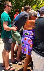 Man in the crowd (LarryJay99 ) Tags: people hairy man male men guy feet face sunglasses toes legs masculine manly profile guys dude barefoot flipflops shorts dudes hairylegs stud arbys studs photostream stubble virile braghettoni malerack iphone6plusbackcamera415mmf22