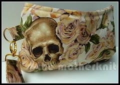 Resting In Roses Coraline (The_Motherknit) Tags: roses skulls handmade swoon sewing fabric gift clutch skeletons coraline wristlet alexanderhenry clutchbag skullbag swoonpattern