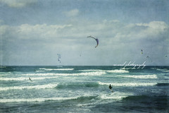 Wind trip (Cristian CN) Tags: ocean sea summer sky texture sports mediterranean surf waves wind windsurf bluesea