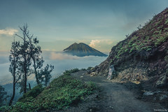 Ijen Volcano Mountain, Java, Indonesia (tr4live) Tags: people mountain lake nature beautiful rock danger indonesia landscape volcano java earthquake view smoke scenic steam gas crater mineral sulfur volcanic eruption active ijen kawah