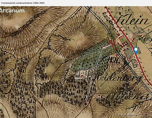 Gedenkstaette Heldenberg, NOE: in der franziszeischen landesaufnahme zwischen 1850 und 1869