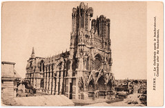 Reims Cathedral After Sustained Bombardment (pepandtim) Tags: postcard old early nostalgia nostalgic reims rheims cathedral cathdrale carte postale sustained bombardment 23rca65