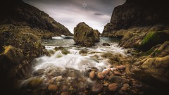 Even Flow (Augmented Reality Images (Getty Contributor)) Tags: longexposure seaweed water clouds canon landscape evening scotland rocks waves tide coastline moray portknockie leefilters