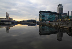Salford Quays Reflection (David Chennell - DavidC.Photography) Tags: reflection manchester dock salfordquays lancashire salford