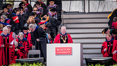 Gandalf the white wizard?  He needs the pointy hat to complete the picture. (kuntheaprum) Tags: graduation commencement bostonuniversity