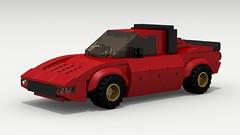 Lancia Stratos (LegoGuyTom) Tags: road city italy classic cars sports car sport digital race speed vintage italian europe european lego pov designer racing legos download coupe dropbox speedster lancia racer v6 povray stratos bertone ldd citycar lxf legocity legodigitaldesigner
