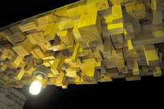 Timber ceiling (Roving I) Tags: wood pine lights design timber vietnam blocks cafes ceilings danang