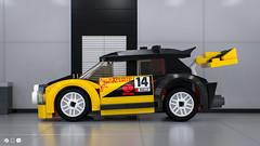 Lego Rally Car (60113) (gabriele.zannotti) Tags: car 3d model lego render rally blender mecabricks