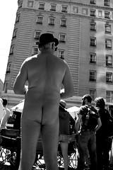 nude man in bowler hat (vhines200) Tags: sanfrancisco bowlerhat gayprideparade 2016