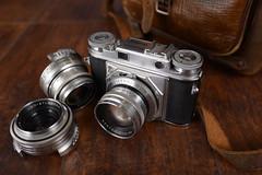 Voigtlander (skydivebob) Tags: camera old school film leather 35mm bag lens 50mm leaf voigtlander indoor 100mm shutter range finder