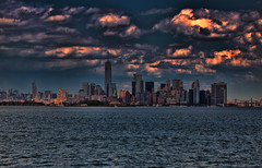 She Knew You Would Find Her (raymondclarkeimages) Tags: raymondclarkeimages rci canon 8one8studios 70200mm 6d water river ny nj usa outdoor horizon city landscape newyork statueofliberty newjersey statenisland sky clouds buildings liberty tallbuildings skyscraper island flickr google yahoo