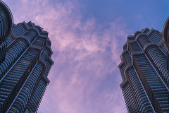 Details (CreArtPhoto.ro) Tags: pink abstract detail building beautiful up look clouds sunrise design close petronas towers magenta twintowers tall kualalumpur islamic roz albastru rasarit detalii