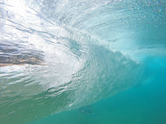 through the back (bluewavechris) Tags: ocean blue sea summer water hawaii surf underwater tube barrel wave maui swell knekt southswell gopro