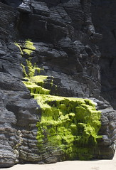 Water (Fermion) Tags: travel vacation holiday black green rock waterfall slate algie schist widegamut