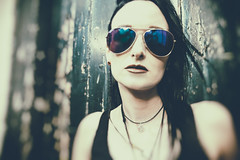 Reflections of Innocence (Howard Sandford) Tags: sunglasses rock dark heidi grunge gothic goth shades edgy tokinasd1116f28ifdxii