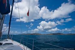 Sailing toward Tortola (3scapePhotos) Tags: travel sea vacation beach sailboat island islands boat sailing virgin beaches tropical british caribbean tortola tropics bvi britishvirginislands toward