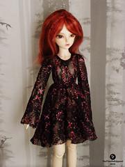 Minifee lace dress- red (TeaTimeDoll) Tags: bjd balljointdoll ball joint doll minifee rheia lace dress for sale