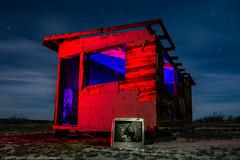 The Screening Room (dejavue.us) Tags: california longexposure nightphotography lightpainting abandoned television tv cabin nikon desert mojave shack nikkor d800 vle 180350mmf3545