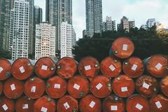 Stacked (~cerys~) Tags: city hk hongkong pier barrel wharf tanks saiwan instagrampier