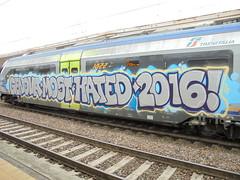 genova most hated 2016! (en-ri) Tags: ladro saer shave train torino graffiti writing viola grigio 2016