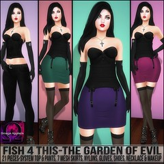 Sn@tch Fish 4 This-The Garden of Evil Vendor Ad LG (Tess-Ivey Deschanel) Tags: sntch snatch iveydeschanel ivey deschanel designer secondlife sl second life omegasystem outfits omega summer specials new newrelease mesh model meshclothing meshclothes models punk pants pixels party clothing clothes clubwear costumes casual beach