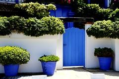 Casa blanca y azul. (camus agp) Tags: sanpedroalcantara malaga espaa canoneos fachadas blancoyazul azules