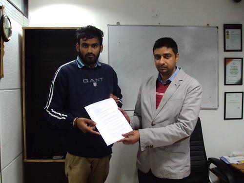 Jatinder Singh Athwal Receiving Australia Study Visa From Director