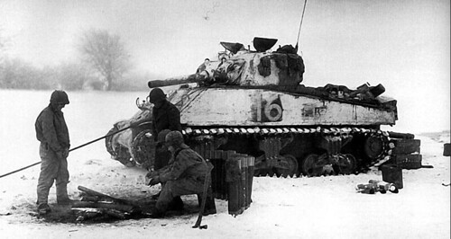 M4 105mm Howitzer tank No  16 of HQ Company 15th Tank