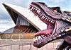 Game of Thrones Dragon at Sydney Opera House