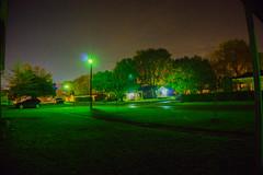 Night Shot (acocke) Tags: street houses light green grass night lights nightshot streetlamps streetlights osage osagecounty