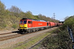 60063 Woodhouse Washlands 21 Apr 15 (doughnut14) Tags: diesel steel sheffield rail loco tug woodhouse freight midland oldroad wolverhampton southyorkshire immingham class60 60063 dbschenker 6e08