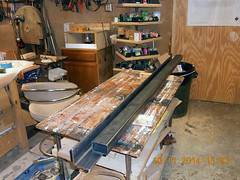 Hank Kennedy table saw project - diy guide rails 09