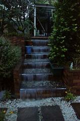 Waterfall on the stairs in my garden (Tatters ✾) Tags: home rain stairs waterfall australia mygarden raining