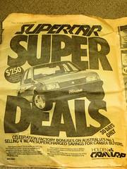 The Sun - Wednesday 2nd November 1983 (RS 1990) Tags: old car sedan ads advertising newspaper australia melbourne victoria retro nostalgia interest holden thesun camira november1983