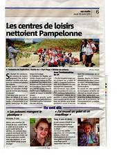 "Article in Var-Matin after operation ""Nettoyage de la Plage de Pampelonne"" EPI Plage (shootplastic) Tags: article after operation plage epi varmatin shootplastic nettoyagedelaplagedepampelonne"