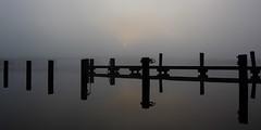 Stil (zsnajorrah) Tags: bridge urban reflection haarlem water netherlands spaarne silhouette fog sunrise jetty minimal explore schoterbrug eos600d ef1635mmf4l