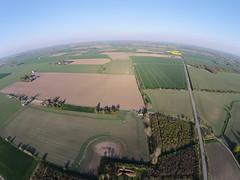 Flatland planet (Lars Plougmann) Tags: weather denmark flat horizon bluesky aerial fields agriculture lolland drone curvedhorizon dji00122