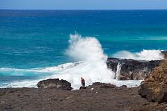 Kauai (kellyandjaffe) Tags: hawaii fisherman waves unitedstates kauai spoutinghorn bluewaters koloa
