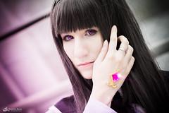 Fayela als Homura Akemi aus Mahou Shoujo Madoka Magica (Mitrish) Tags: pink light purple cosplay magic leipzig lila mahou akemi buchmesse madoka magica kaname 2015 leipziger shoujo homura fayela