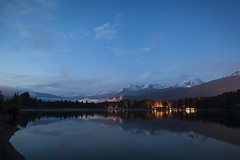 Rainbow Park Blue Hour (craigmdennis) Tags: travel sky lake mountains water night stars landscape whistler rainbowpark wbinstameet