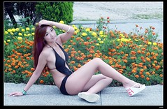 nEO_IMG_DP1U7506 (c0466art) Tags: light portrait motion black cute girl female swimming canon pose model asia pretty sweet outdoor body gorgeous line suit attractive lovely charming elegant curve 1dx c0466art