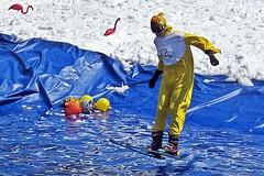 2015 Slush Cup Touchdown (5of7) Tags: 2015 sunshinevillage slushcup fav sport ski skiing jump water costume yellow blue white people