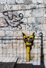 Fire hydrant in the Mohammedan Quarter, Old City of Jerusalem (donaldjenkins) Tags: israel catholic jerusalem leicax1