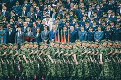 Red spot and the president (freshandfun) Tags: army europe flag military president serbia documentary parade vojvodina militaryparade zrenjanin