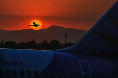 LAX sunset (Ian@NZFlickr) Tags: sunset usa composite los airport angeles lax takeoff internal