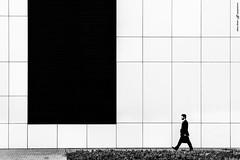 Size of Human 2 (dalibor.papcun) Tags: geometric square mono walk mini suit step instant lawyer kosice aupark