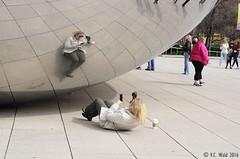 Cloud Gate Selfie with Coffee (V. C. Wald) Tags: chicago millenniumpark cloudgate thebean publicsculpture anshkapoor